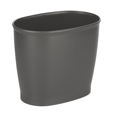 mDesign Small Plastic Oval Trash Can Garbage Wastebasket