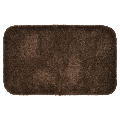 "24""x40"" Finest Luxury Ultra Plush Washable Nylon Bath Rug Chocolate - Garland"