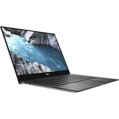 "Dell XPS 13 13.3"" Laptop Intel Core i7 8GB RAM 256GB SSD Platinum Silver & Black - 8th Gen i7-8565U Quad-core - Intel UHD Graphics 620 - image 1 of 4"