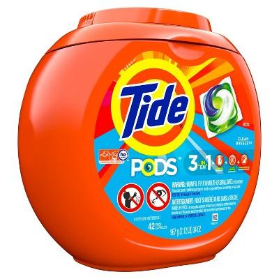 Tide Pods Clean Breeze Laundry Detergent Pacs - 42ct