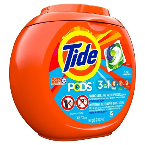 Tide PODS Clean Breeze Laundry Detergent Pacs - 42ct - image 1 of 3