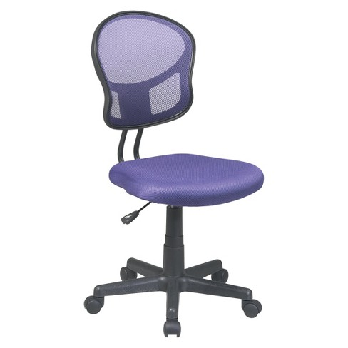 Mesh Task Chair Purple Office Star
