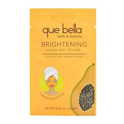 Que Bella Skin Brightening Papaya Peel Off Face Mask - 0.35oz