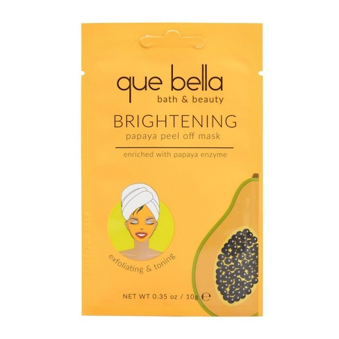 Que Bella Skin Brightening Papaya Peel Off Face Mask - 0.35oz - image 1 of 4