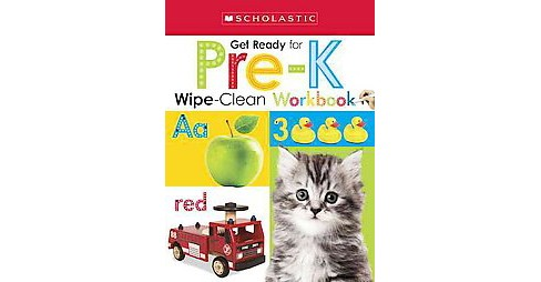 Get Ready for Pre-K Wipe-Clean Workbooks (Paperback) - image 1 of 1