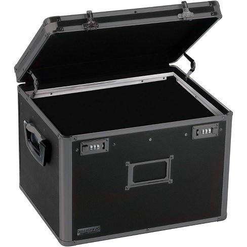 Vaultz Locking File Chest Letter/Legal - Black Vinyl - image 1 of 4