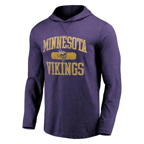 NFL Minnesota Vikings Men's Block Arch Lightweight Hoodie - image 1 of 3