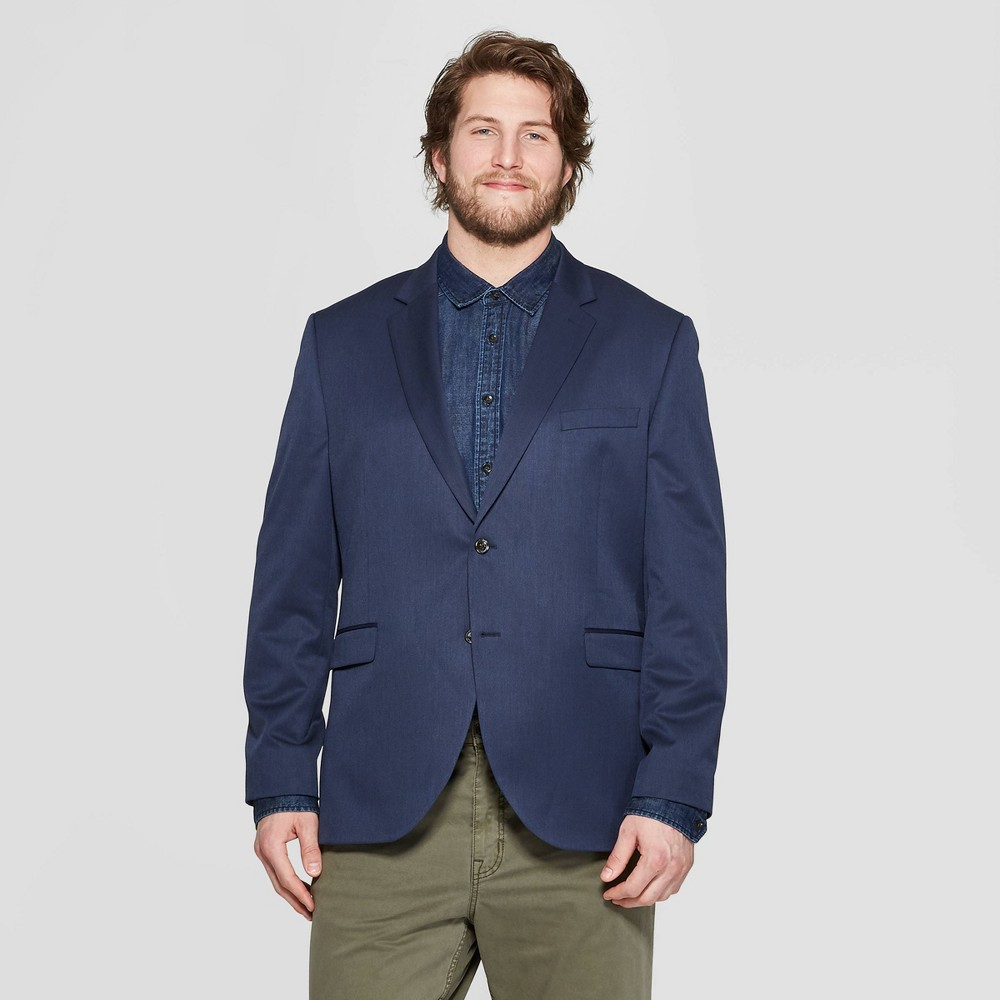 Men's Big & Tall Standard Fit Suit Jacket - Goodfellow & Co In The Navy 46L