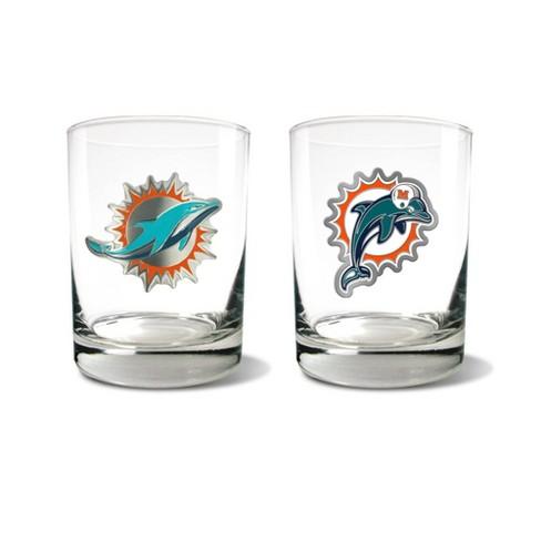 NFL Miami Dolphins Rocks Glass Set - 2pc - image 1 of 1