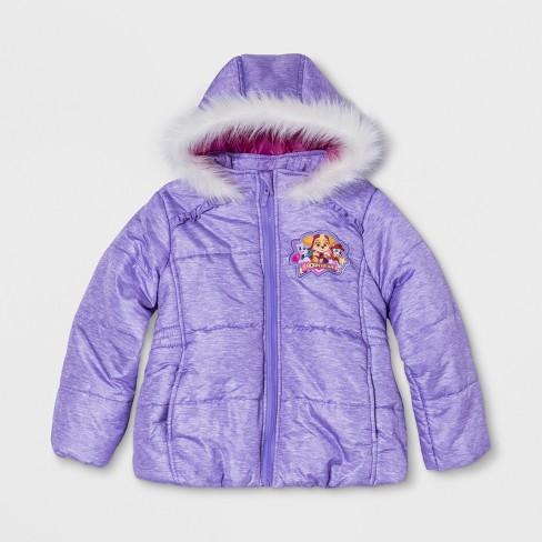 71c5cf05f Girls  PAW Patrol Puffer Jacket - Purple   Target