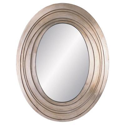 OK Lighting Silver Ripple Mirror