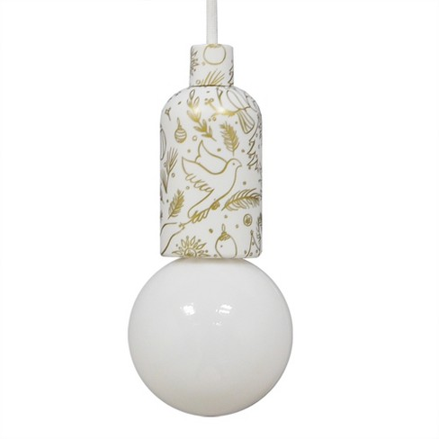 Battery Operated Led Swag Pendant Dove Socket Room Essentials