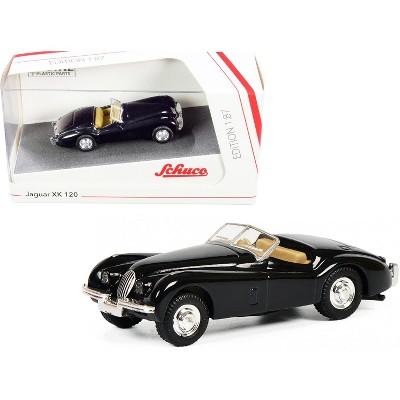 Jaguar XK 120 Roadster Black 1/87 (HO) Diecast Model Car by Schuco