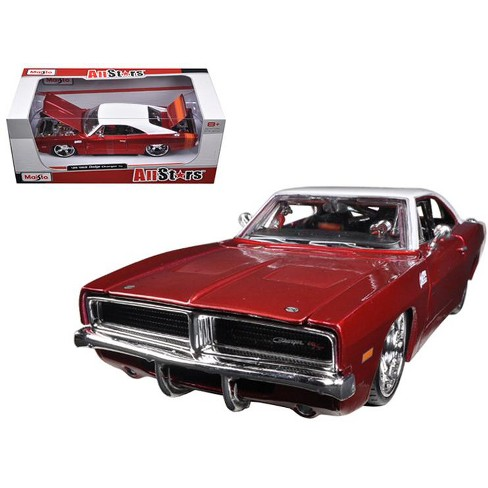 1969 Dodge Charger R T Burgundy White 1 25 Diecast Car Model By Maisto Target