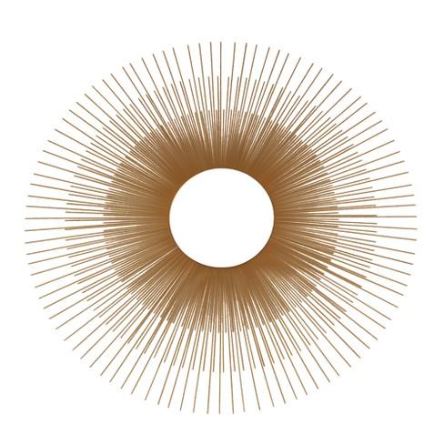 Sunburst Decorative Wall Mirror Gold - No Brand - image 1 of 2