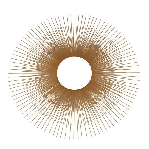 Sunburst Decorative Wall Mirror Gold - No Brand