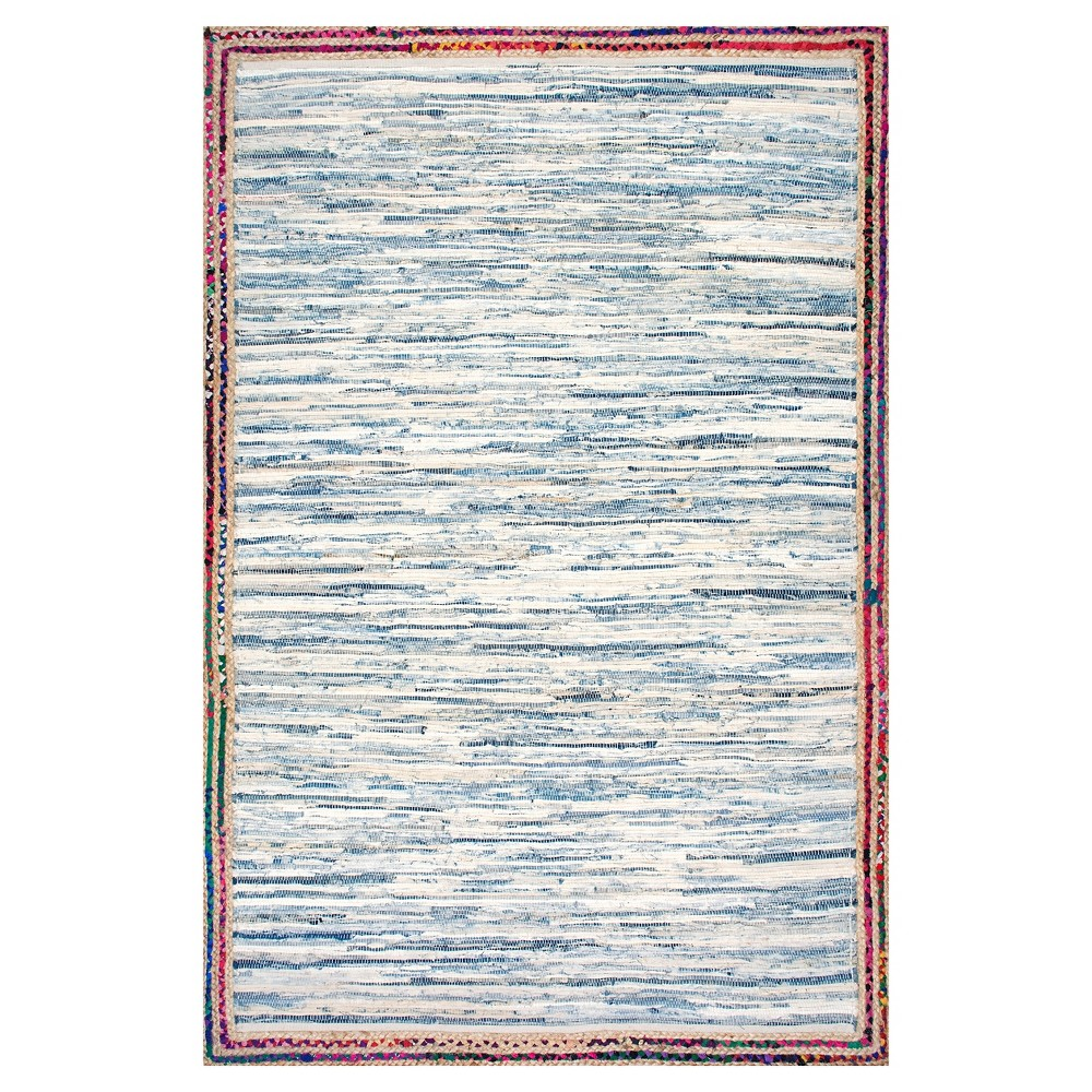 Blue Solid Woven Runner - (2'6x8') - nuLOOM
