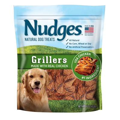 Nudges Natural Chicken Grillers Dog Treats - 16oz