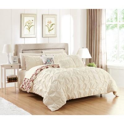 Queen 10pc Yabin Bed In A Bag Comforter Set Beige - Chic Home