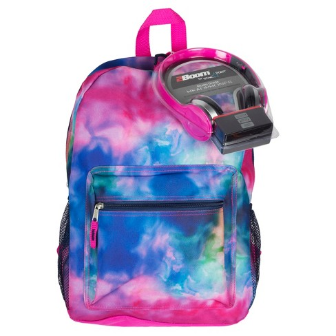 "17"" Kids' Backpack with Headphones - Watercolors - image 1 of 3"
