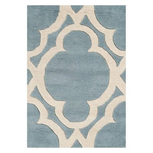 Lindsey Quatrefoil Design Tufted Accent Rug - Safavieh - image 1 of 3