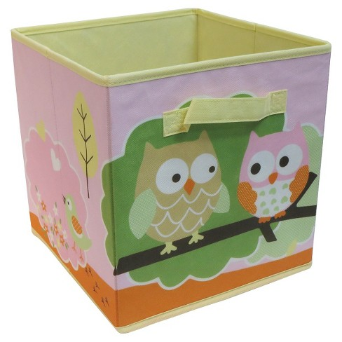 "Fabric Cube Storage Bin 11"" - Pink Owls - Circo™ - image 1 of 1"