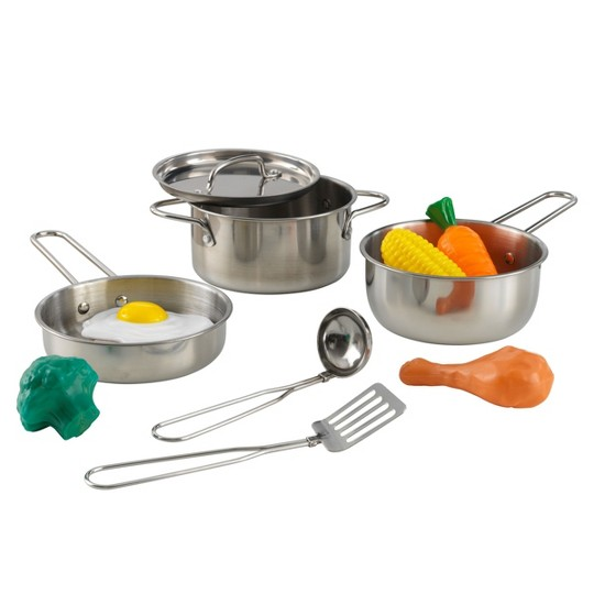 KidKraft Metal Kitchen Cookware and Accessories image number null
