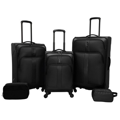 "Skyline 28"" Softside 5pc Luggage Set - Black"