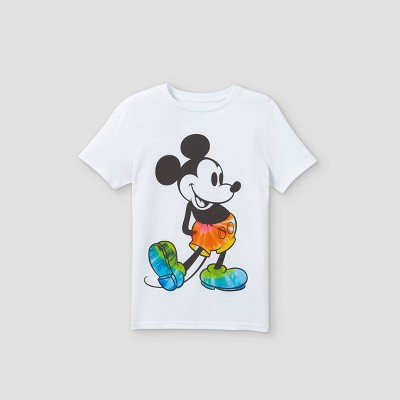 Boys' Disney Mickey Mouse Short Sleeve Graphic T-Shirt - White