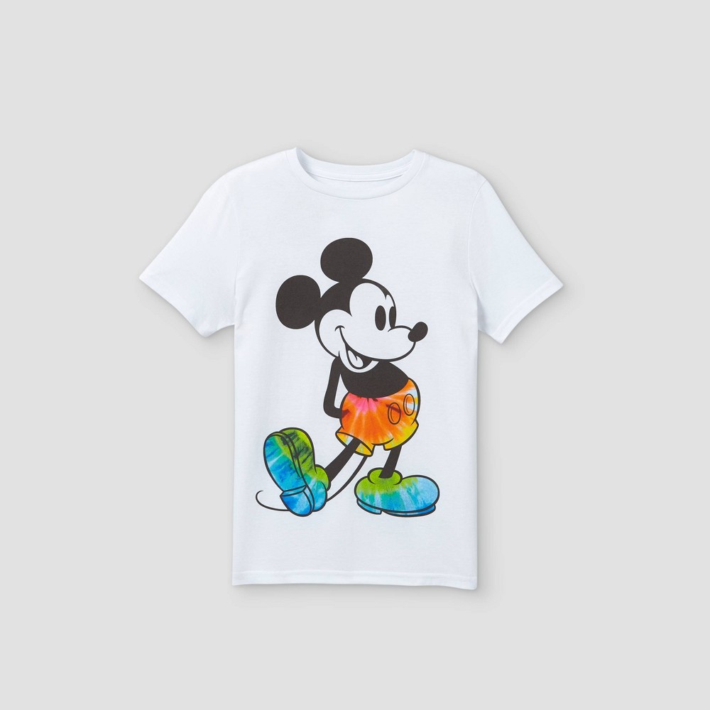 Boys 39 Disney Mickey Mouse Short Sleeve Graphic T Shirt White Xs