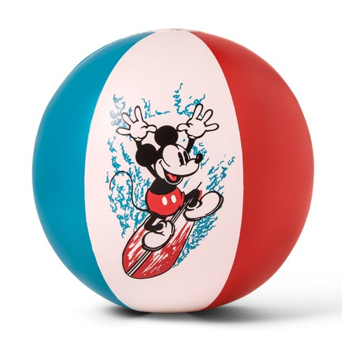 Junk Food Mickey Mouse Inflatable Pool Beach Ball - image 1 of 2