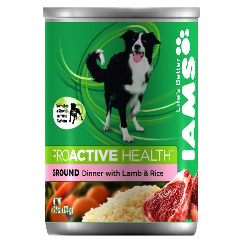 Iams ProActive Health Adult Ground Dinner with Lamb and Rice Wet Dog Food 13.2oz - image 1 of 2