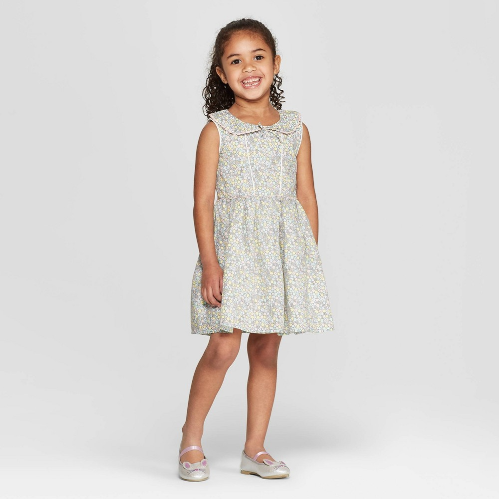 Image of Mila & Emma Toddler Girls' Sleeveless A-line Dress - 12M, Girl's, MultiColored