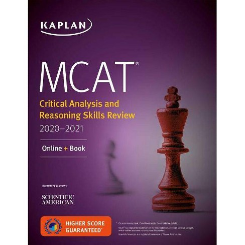 MCAT Critical Analysis and Reasoning Skills Review 2020-2021 - (Kaplan Test  Prep) (Paperback)