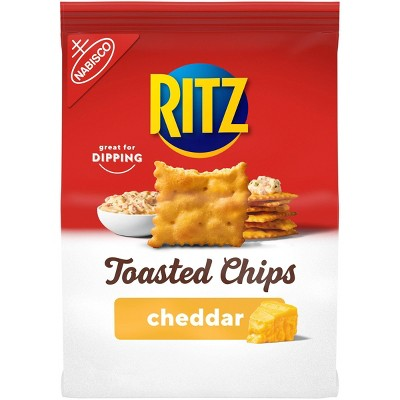 Ritz Toasted Chips, Cheddar - 8.1oz
