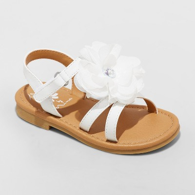 1698bfc2f883 Toddler Girls  Flowers by Nina Annabel Floral Ankle Strap Sandals - White 11