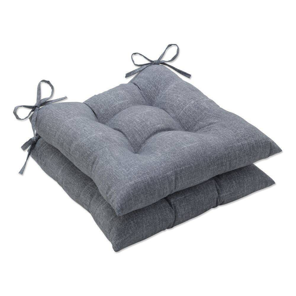 2pk Outdoor Indoor Wrought Iron Seat Cushion Set Tory Graphite Gray Pillow Perfect