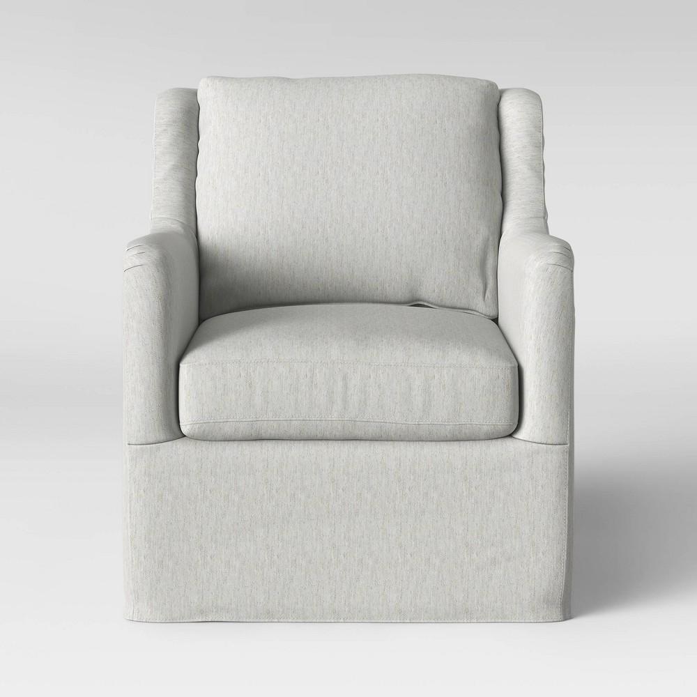 Boston Swivel Slip Cover Chair Cream (Ivory) - Threshold