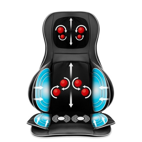 Best Choice Products Air Compression Shiatsu Neck & Back Massager Seat Chair Pad Massage Cushion, 2D/3D Kneading w/ Heat - image 1 of 4