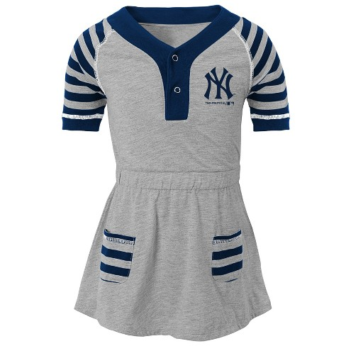 New York Yankees Girls  Striped Gray Infant Toddler Dress - 12M   Target 757a4cfeaed