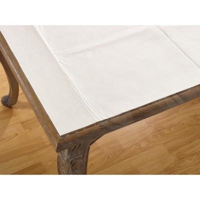 "Saro Lifestyle Cushioned Table Pad, 52""x120"", White"