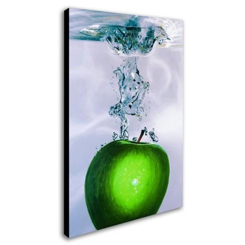 Apple Splash II\' by Roderick Stevens Ready to Hang Canvas Wall Art ...