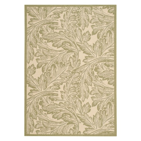 Leon Patio Rug - Natural / Olive - Safavieh® - image 1 of 3