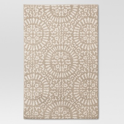 2'6  x 3'10  Tan Medallion Kitchen Rugs - Threshold™