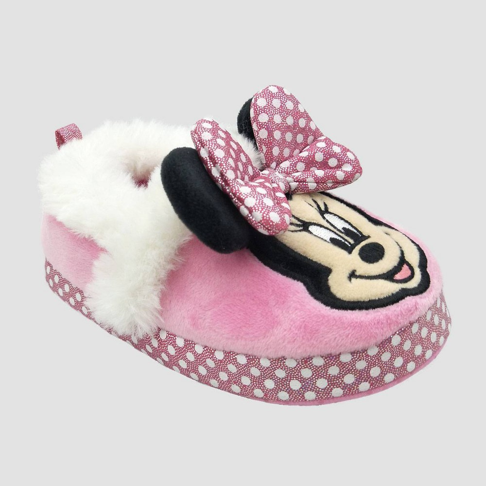Image of Toddler Girls' Disney Minnie Mouse Ballet Slippers - Pink S(5-6), Toddler Girl's, Size: Small (5-6)