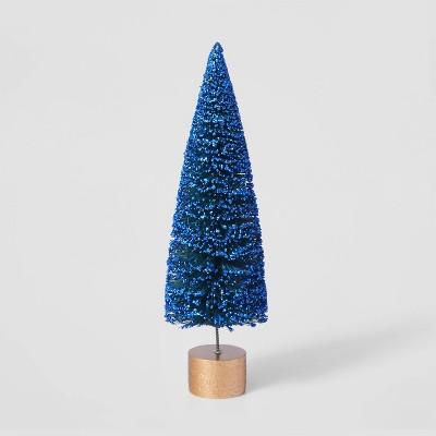 9in Bottle Brush Tree with Gold Base Decorative Figurine - Wondershop™