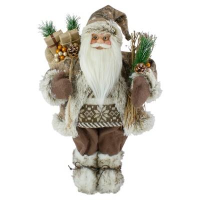 "Northlight 18"" Standing Santa Christmas Figure with Presents"