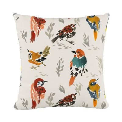 Multi Bird Print Throw Pillow - Skyline Furniture : Target