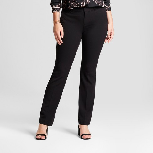 Women's Bootcut Curvy Bi-Stretch Twill Pants - A New Day™ - image 1 of 3