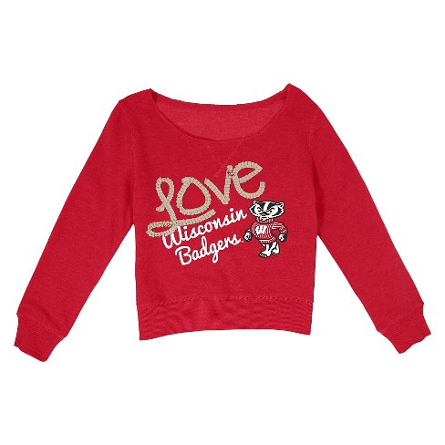 Wisconsin Badgers Girl's Sweatshirt - image 1 of 1